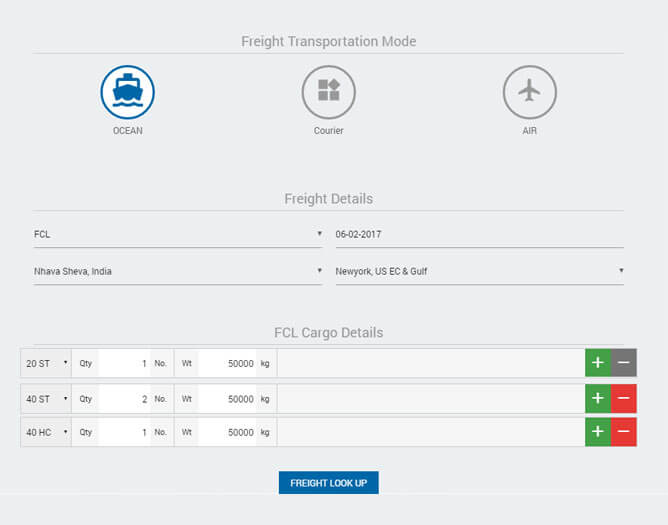 freight rates calculator